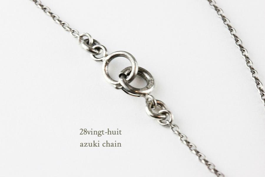 ヴァンユイット 小豆 チェーン ネックレス シルバー メンズ,28vingt-huit Chain Necklace Silver Mens