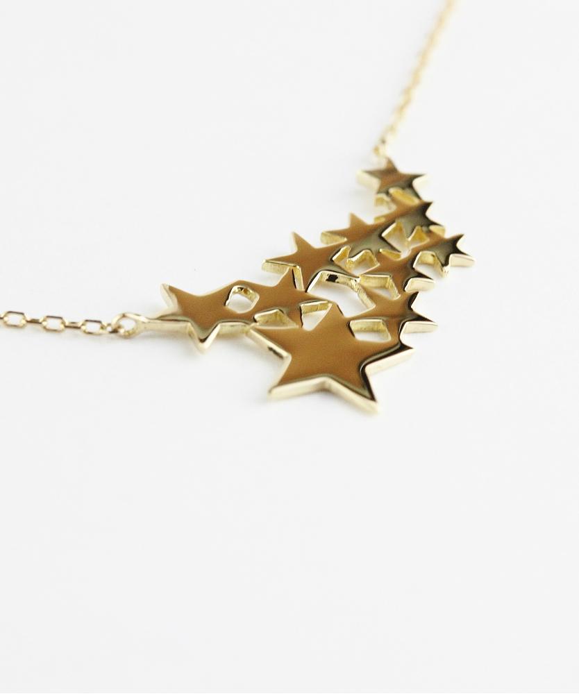 トゥー プライ 590 ギャラクシー スター 華奢ネックレス 18金,two ply Galaxy Star Necklace K18