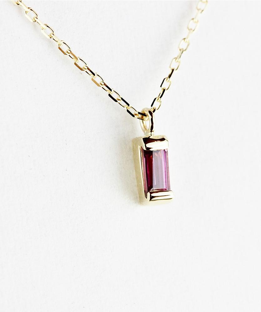 トゥー プライ 603 ロードライト ガーネット バケットカット 華奢ガーネット 18金,two ply  Precious Stone Garnet Necklace K18