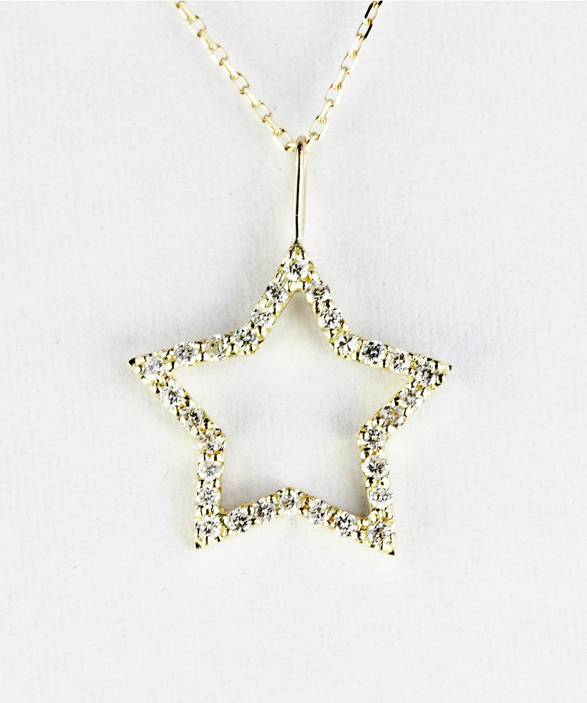 トゥー プライ 608 ブリリアント スター ダイヤモンド 華奢チャーム 18金,two ply Brilliant Star Diamond Charm K18