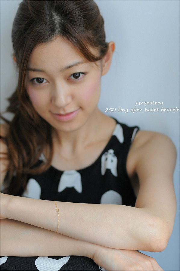 ピナコテーカ 250 タイニー オープン ハート 華奢 ブレスレット 18金,pinacoteca Tiny Open Heart Bracelet K18