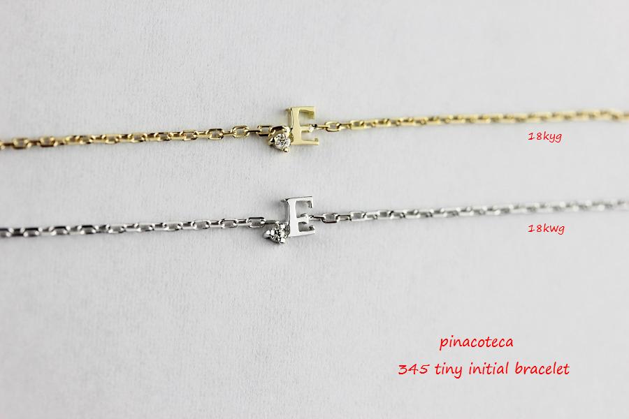 pinacoteca 345 tiny initial bracelet 18kwg