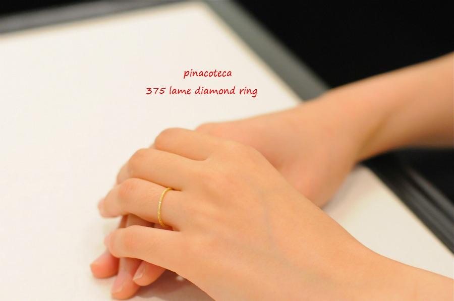 pinacoteca 375 lame diamond ring ピナコテーカ ラメ ダイヤモンド リング 華奢リング K18