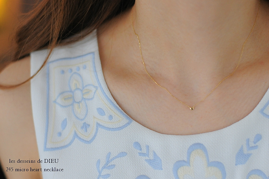 les desseins de DIEU 245 Micro Heart Necklace レデッサンドゥデュー マイクロ ハート ネックレス