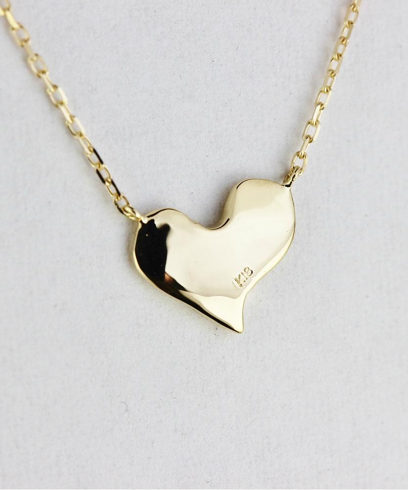 レデッサンドゥデュー 138 ラブ 刻印 ハート ダイヤモンド ネックレス18金,les desseins de DIEU LOVe Heart Necklace K18