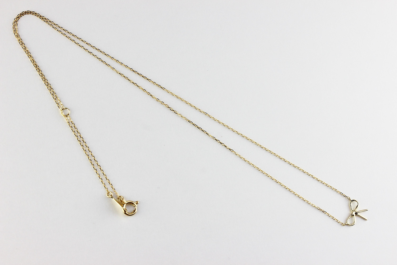 レデッサンドゥデュー 430 ラブ ノット リボン ネックレス 18金,les desseins de DIEU Love Knot Ribbon Necklace K18