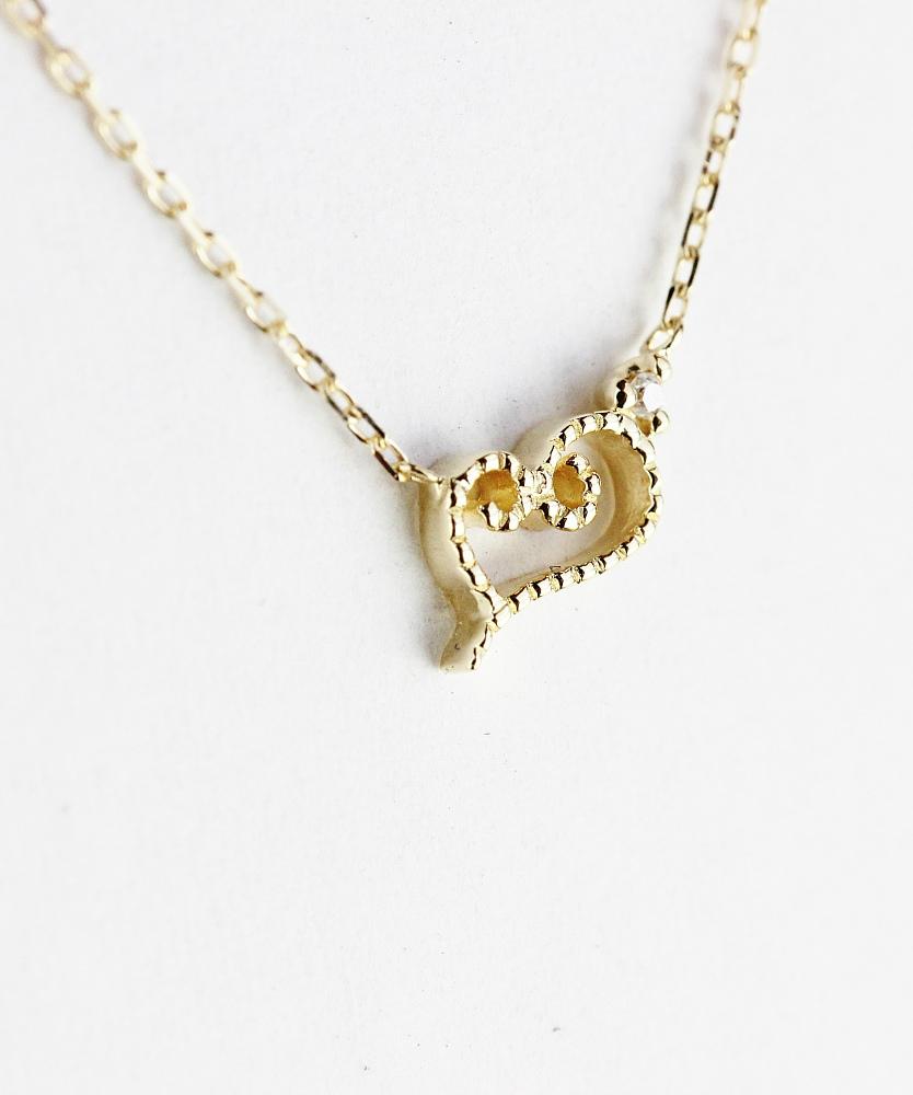レデッサンドゥデュー 440 シナモンロール ハート ダイヤモンド ネックレス18金,les desseins de DIEU Cinnamon Roll Heart Necklace K18