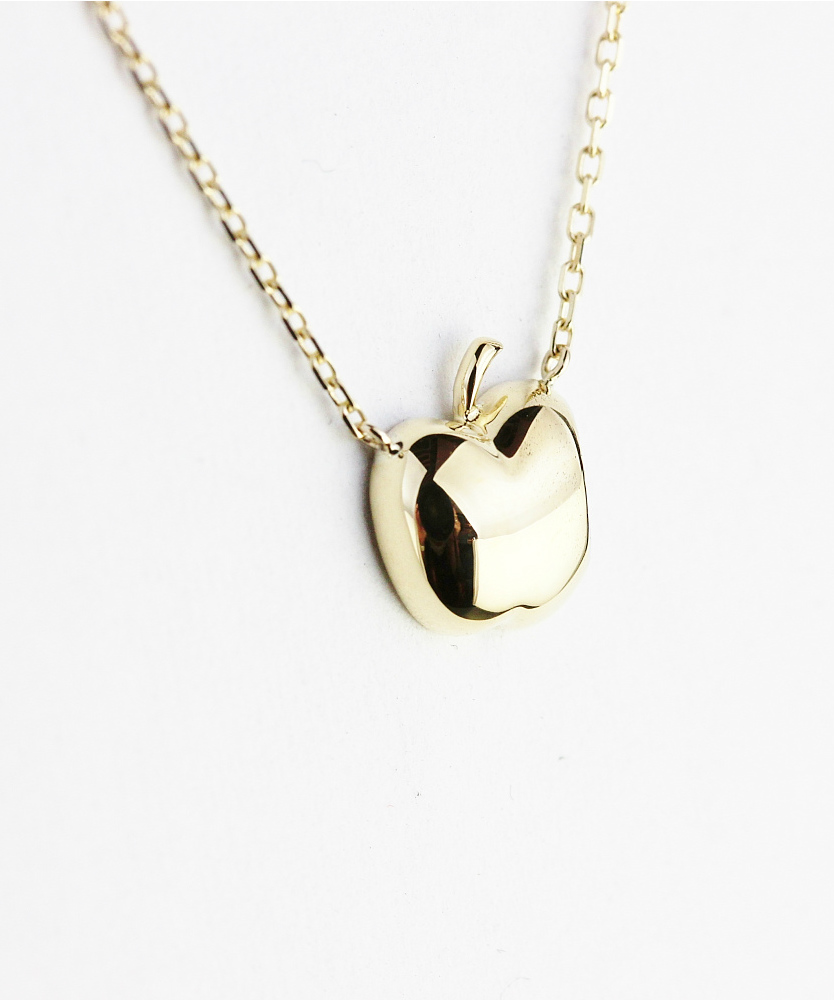 レデッサンドゥデュー572 パフ アップル ダイヤモンド ネックレス18金,les desseins de DIEU Puffed Apple Diamond Necklace K18
