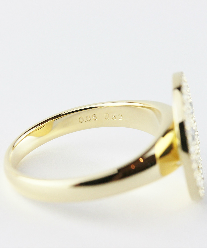 レデッサンドゥデュー 959 スマイル ダイヤモンド ニコちゃん リング 指輪 18金,les desseins de DIEU Smile Diamond Ring K18