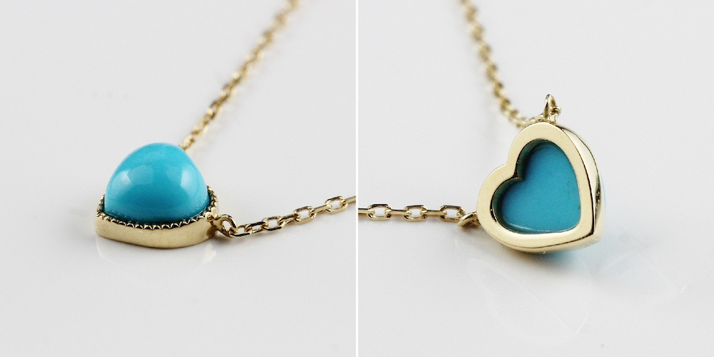 ピナコテーカ 367 ハート ターコイズ ネックレス 18金,pinacoteca Heart Turquoise Necklace K18