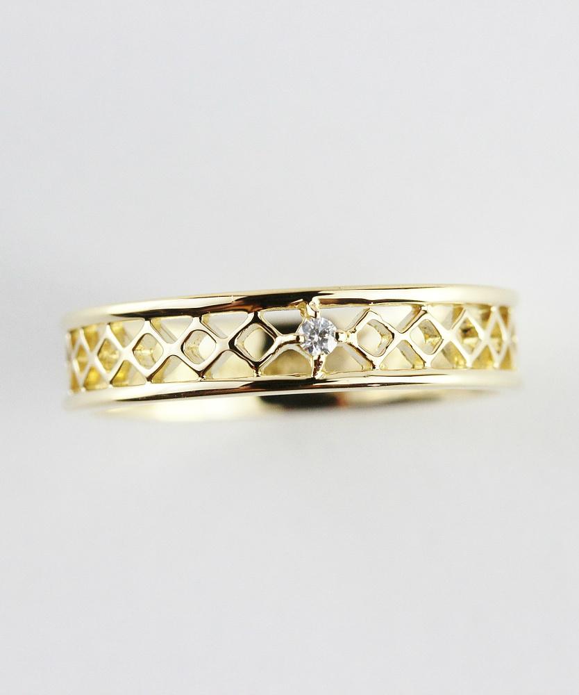 ピナコテーカ 698 レーシー クロス 一粒ダイヤモンド レイヤード リング ピンキーリング 18金,pinacoteca Lacey Cross Diamond Ring K18