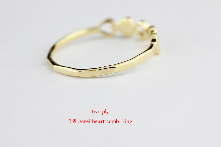 two ply 338 jewel heart combi ring ジュエル ハート コンビ リング