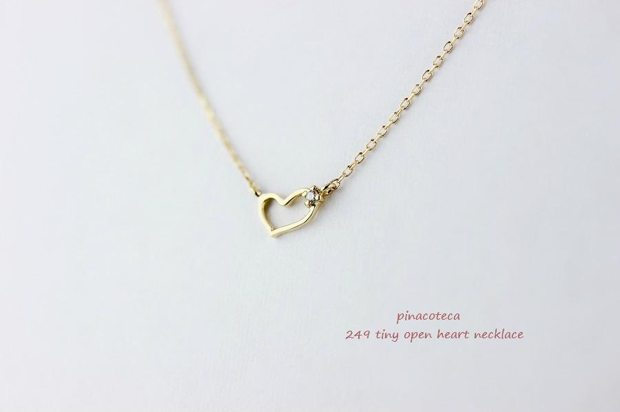ピナコテーカ 249 タイニー オープン ハート 華奢 ネックレス 18金,pinacoteca Tiny Open Heart necklace K18