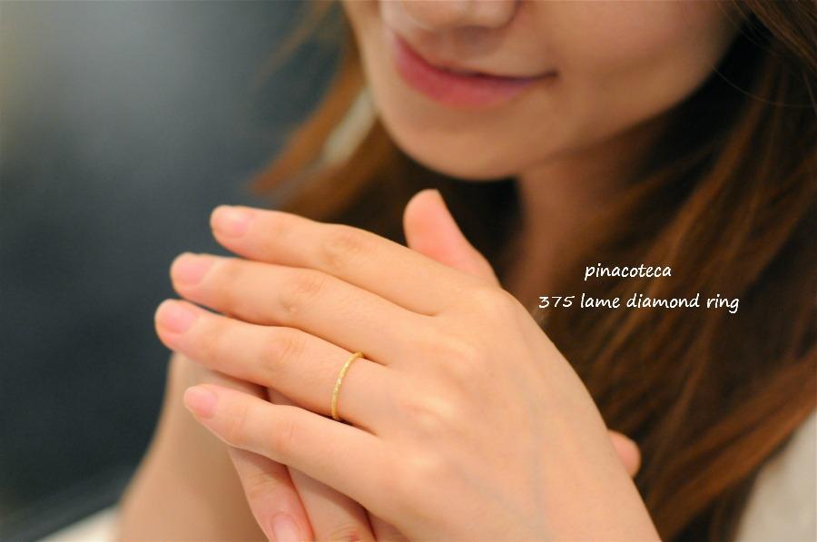 pinacoteca 375 lame diamond ring ピナコテーカ ラメ ダイヤモンド リング 華奢リング K18グ