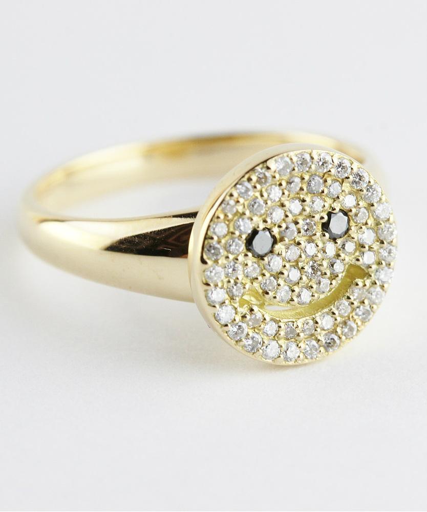 レデッサンドゥデュー 949 スマイル ダイヤモンド ニコちゃん リング 指輪 18金,les desseins de DIEU Smile Diamond Ring K18