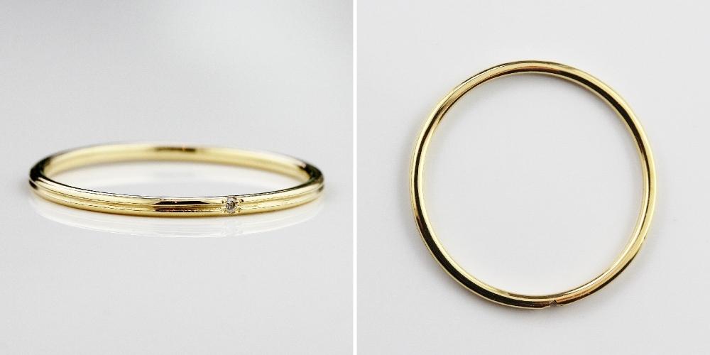 ピナコテーカ 189 レール 一粒ダイヤモンド 華奢リング 重ね付け ピンキーリング 18金,pinacoteca Rail Diamond Pinky Ring K18